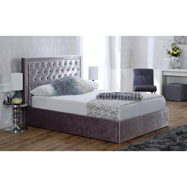 Rhea Storage Bedstead - Crushed Ice
